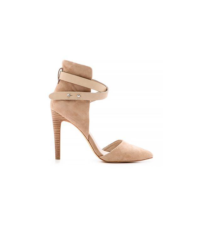 Joe's Jeans Laney Suede d'Orsay Pumps ($135) in Nude