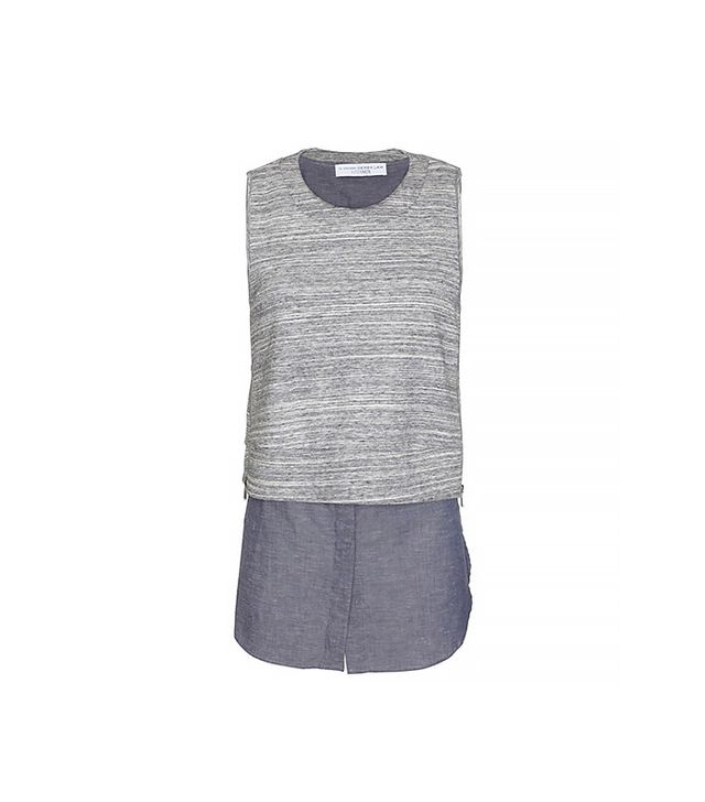 10 Crosby Derek Lam 2 in 1 Combo Sleeveless Top ($345) in Grey
