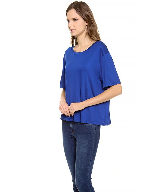 Acne Studios Wonder Boxy T-Shirt ($100) in Royal Blue