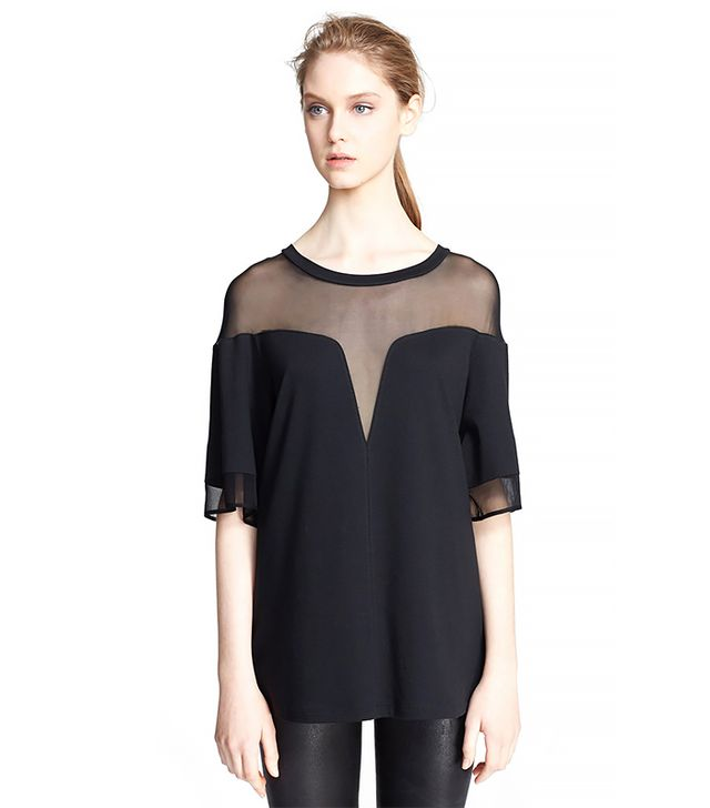 Robert Rodriguez Deep V Boxy Tee ($265) in Black