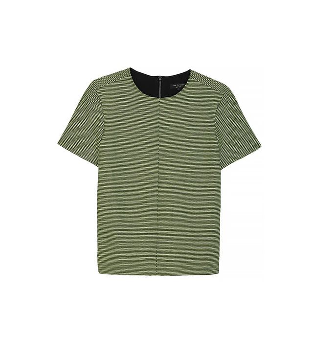 rag & bone Oda Top ($325) in Limelight