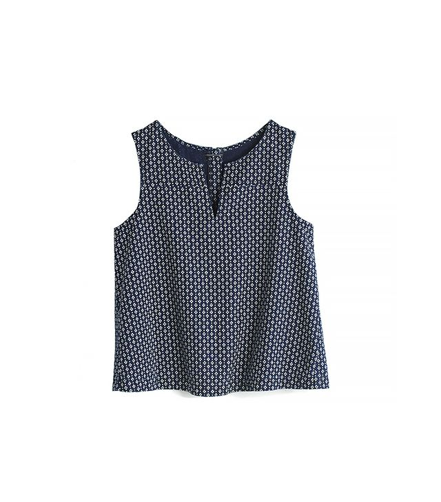 Madewell Denim Daisydot Top ($72) in Daisy Dots