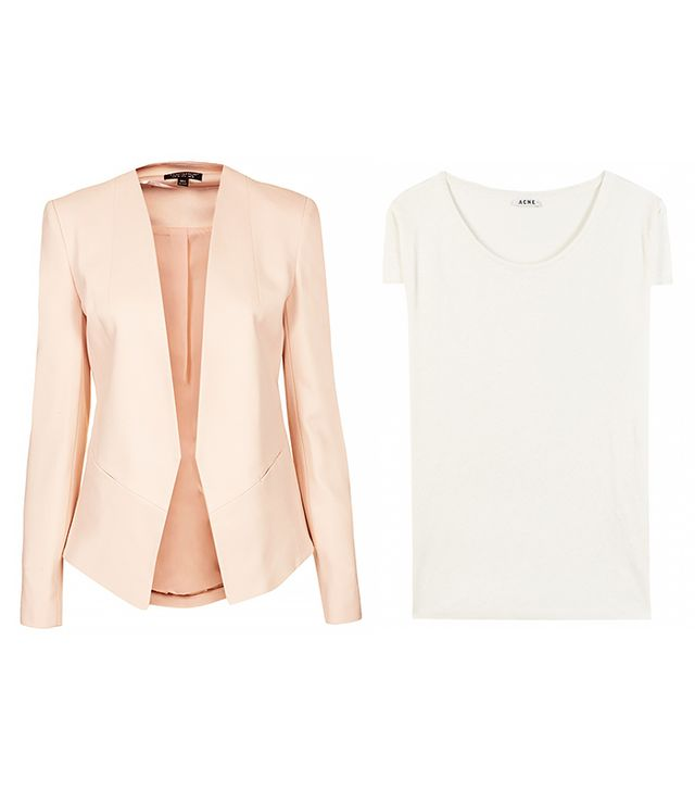 Topshop Georgia Collarless Blazer ($90)
