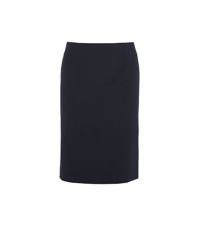 Theory Golda 2 Skirt ($200) in Urban Stretch Wool