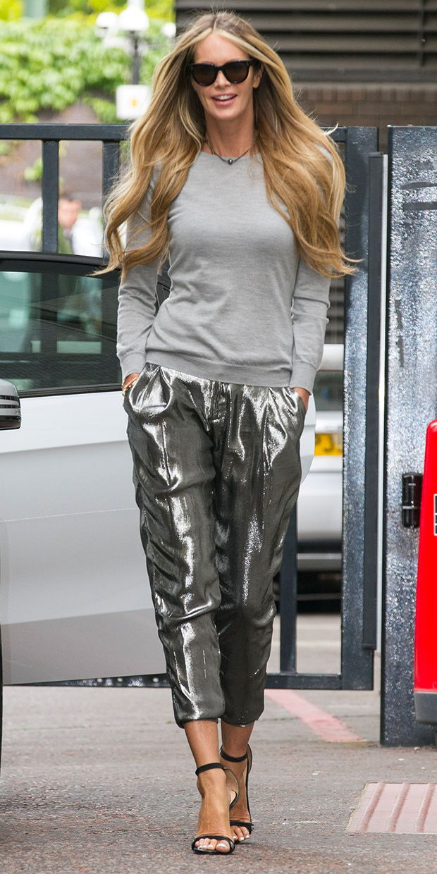 Elle Macpherson Is A Shining Example Of How To Wear Metallic Pants