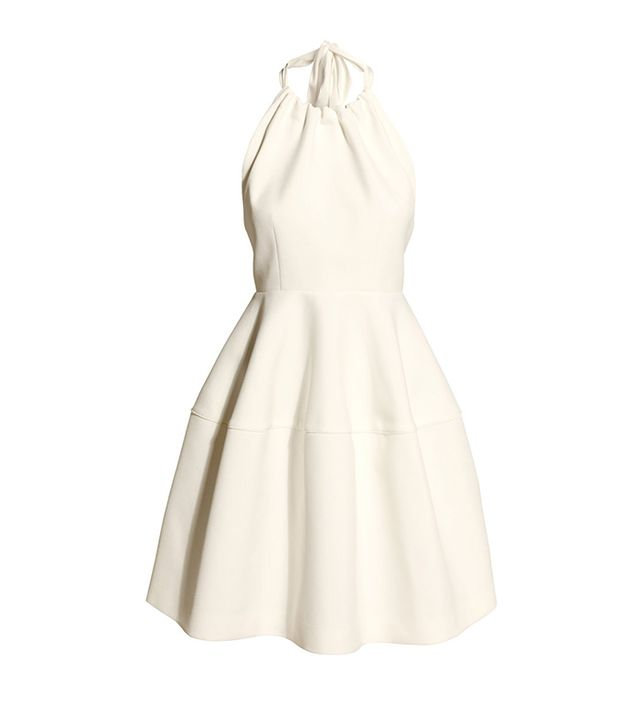 H&M Flared Dress ($70) in White