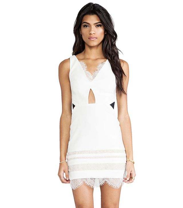 Three Floor White Isle Dress ($332) in White & Black  The details on this lace-trimmed dress are so interesting and flattering. Trust us, all of the attention will be on the wearer of this...