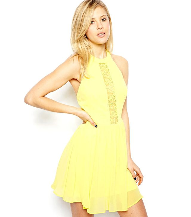 For The Girls: ASOS Lace Insert Halter Skater Dress ($67) in Yellow  A yellow dress is the perfect Southern summer essential, and in this fit-and-flare version, you'll fit right...