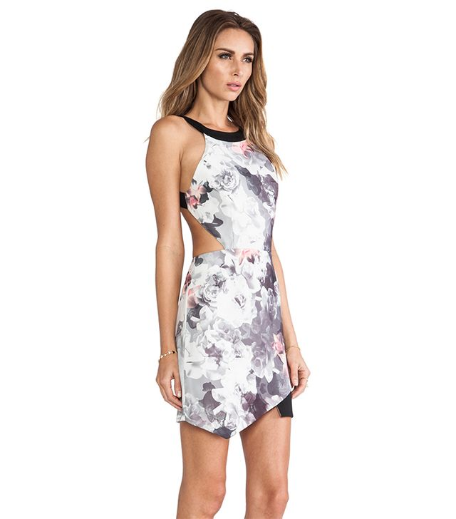 Style Stalker Sweetheart Dress ($189) in Print  This sleek, sexy dress will keep you cool, and we love the chic gray and pink color palette.