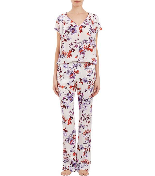 Piamita Melanie Pajama Top ($265)and Nan Pants ($285)  Enjoy hours of laughs in this floral night set.