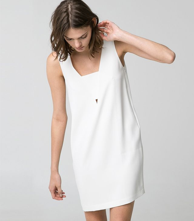 Mango Crepe Shift Dress ($70)