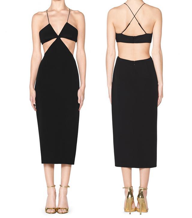 For The Girls: Tamara Mellon Cut Out Dress ($750)  A below-the-knee hem balances out an ultra-revealing top.
