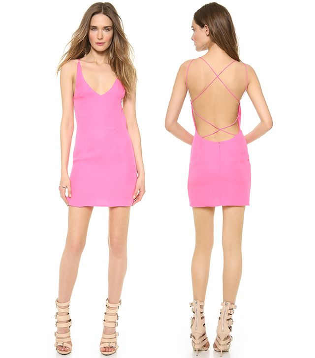 Olcay Gulsen Cross Back Mini Dress ($400)  This is the sort of dress that was made for double takes.