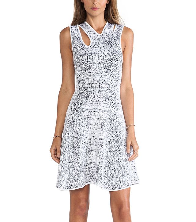 McQ Alexander McQueen Crocodile Body Con Dress ($645)  Who said you need a high hemline to turn heads?  Are you attending any bachelorette parties this summer? Let us know where you're...
