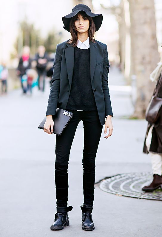 2. White Shirt + All Black