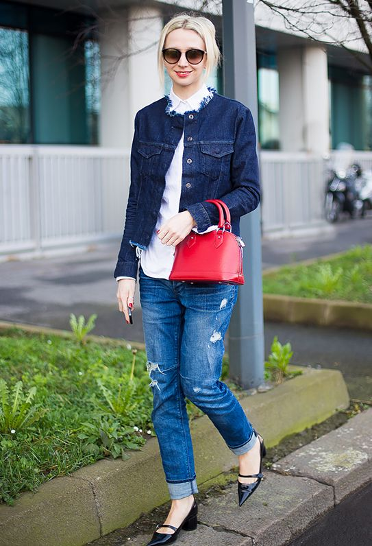 6.  Denim on Denim + Pointy Flats