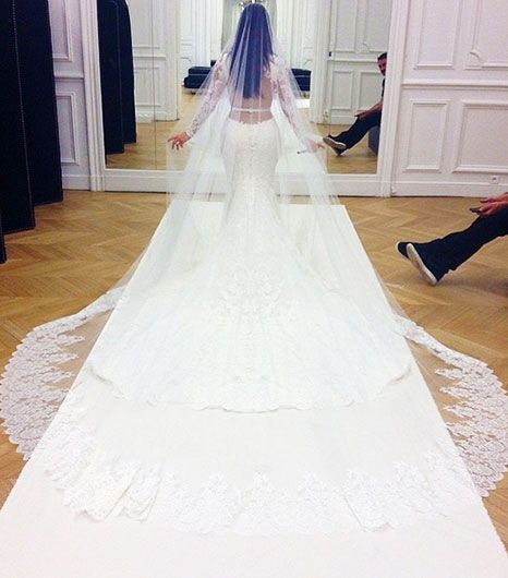First Look! Kim Kardashian's Stunning Givenchy Wedding Dress