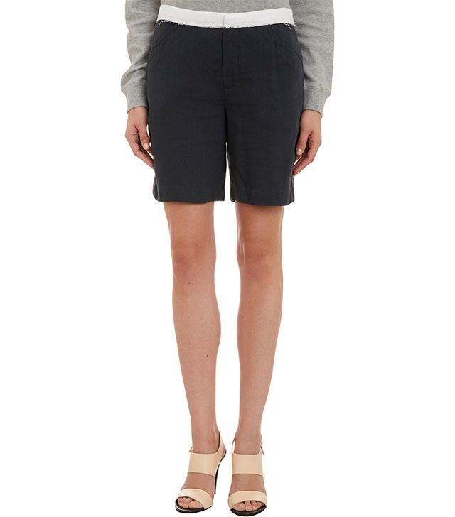 Band of Outsiders Contrast-Waist Long Shorts ($239)