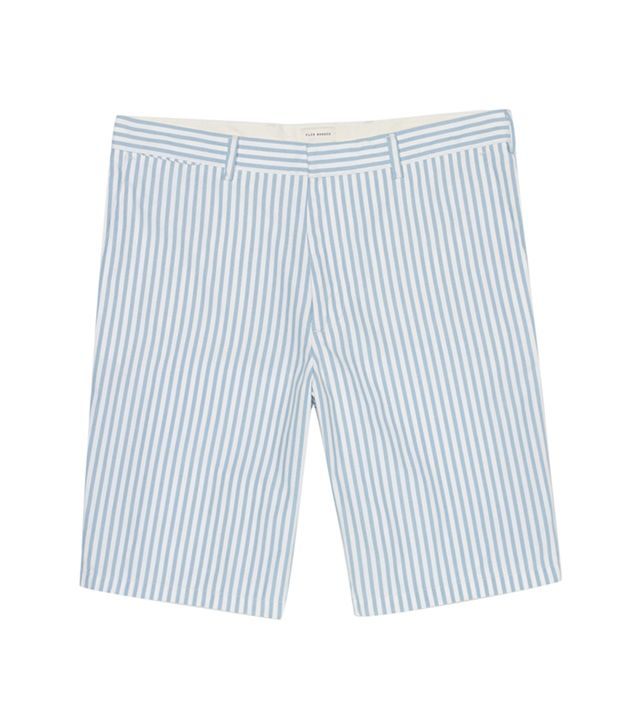 Club Monaco Butcher Stripe Shorts ($70)