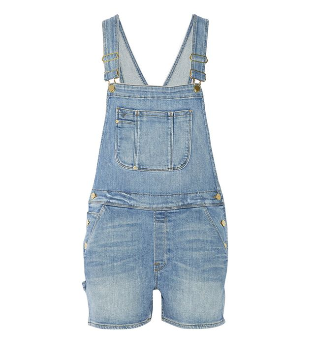 Frame Denim Le Garcon Stretch-Denim Overalls ($290)
