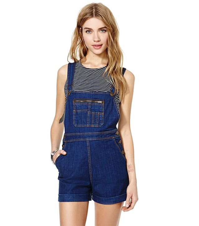 Nasty Gal Courtshop Overall Shorts ($150)