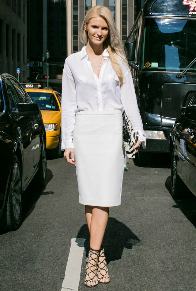 Reach for summer's staple shade from head to toe. 