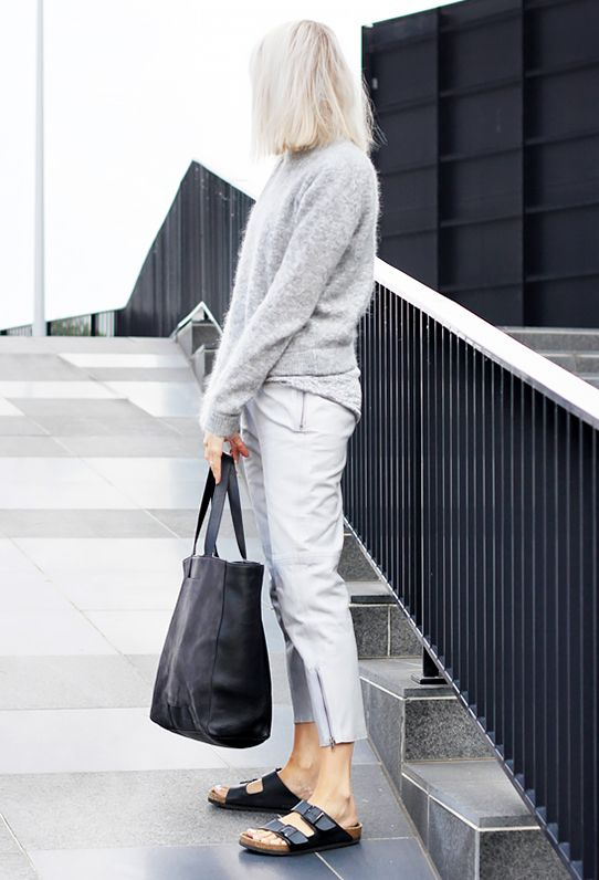 Key Styling Piece: Theory Sag Harbour Forestra Sweater ($255) in Opalescent