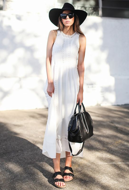 Key Styling Piece: Greylin Roseli Lace Trim Maxi Dress ($152) in White
