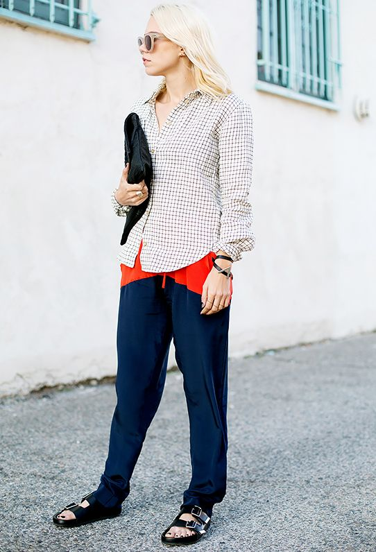 Key Styling Piece: Current/Elliott The Drawstring Lounge Trousers ($188) in Washed Black
