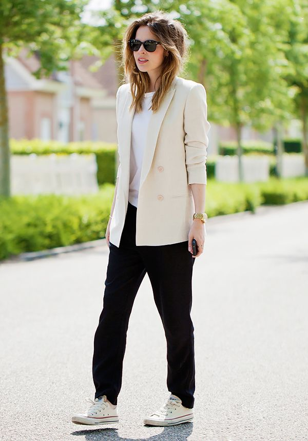 Get the Look: Pure Sugar Lightweight Drapey Blazer ($89) in Creme