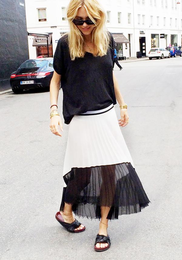 Get the Look:Bellatrix Asymmetric Pleated Midi Skirt ($58)