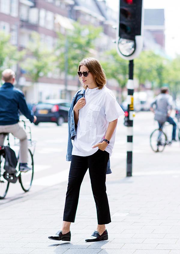 Get the Look:Studio Nicholson Tino Shirt ($342) in Optic White