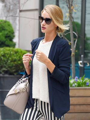 Rosie Huntington-Whiteley Shows Her True Stripes--And They're Stylish