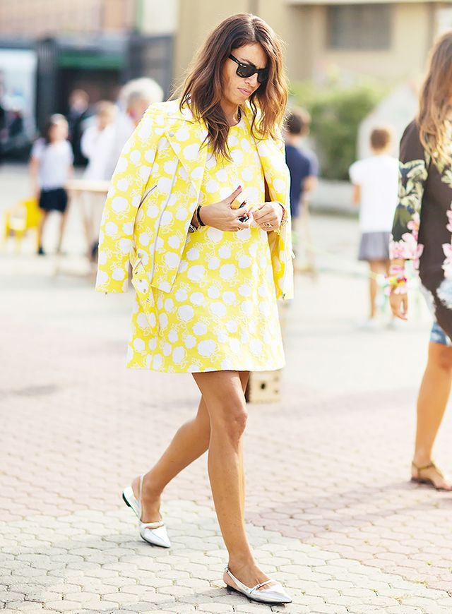 Yellow Dress + Silver Shoes