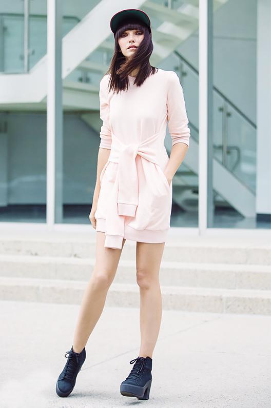 Get the Look: Clu Pleated Sweatshirt Dress ($220)