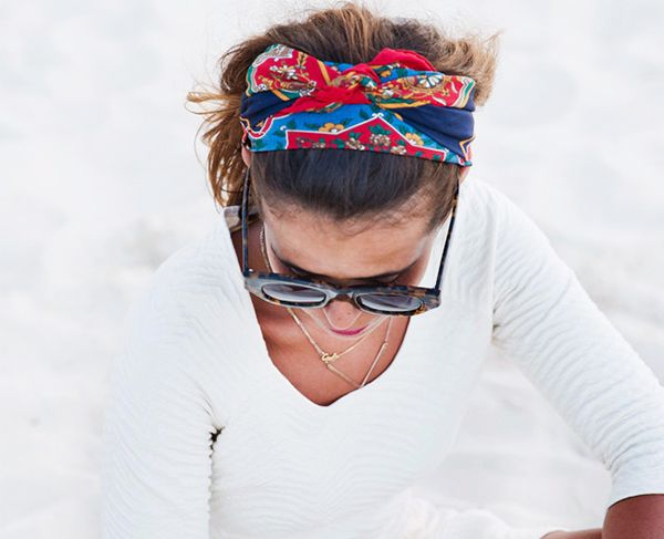 Day 24: Master the scarf-as-headband look.