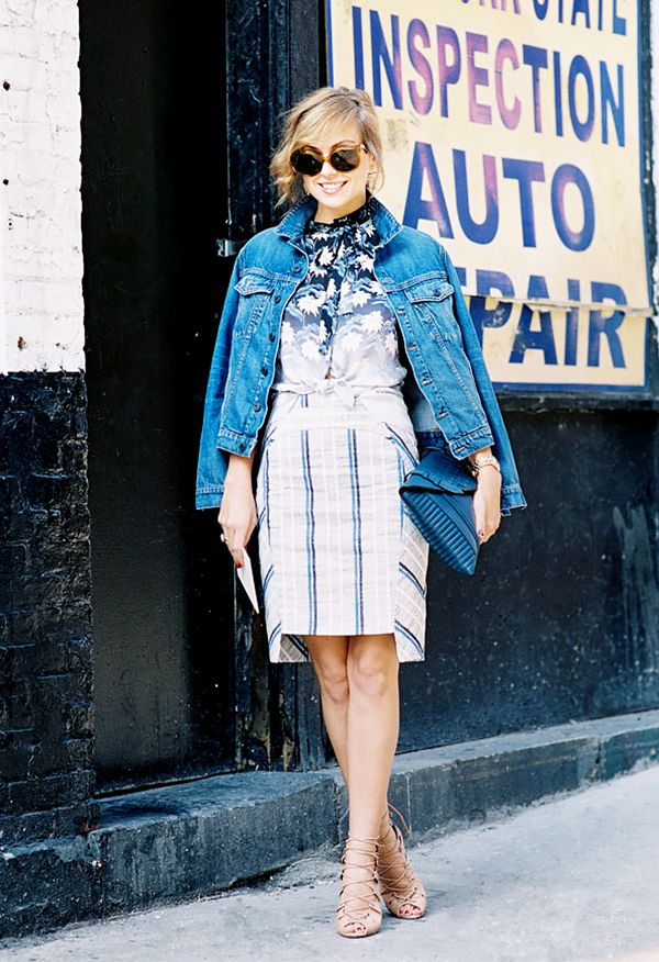 Statement Skirt + Jean Jacket