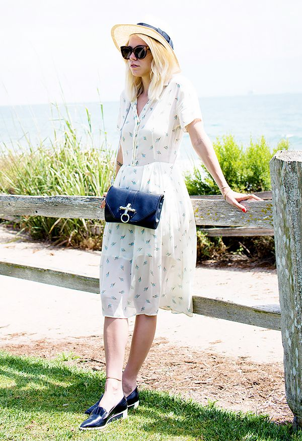 Floral Sundress + Straw Hat