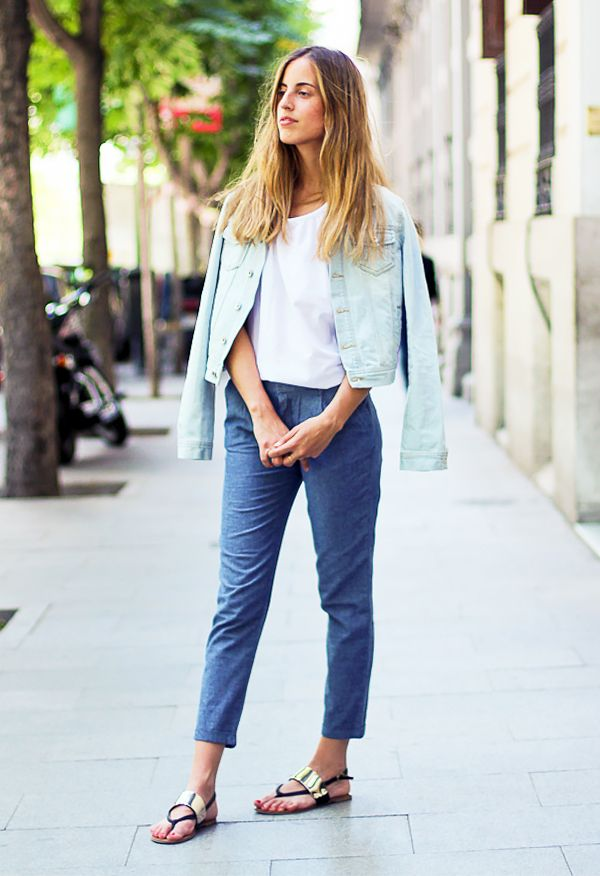 Cropped Trousers + Statement Sandals