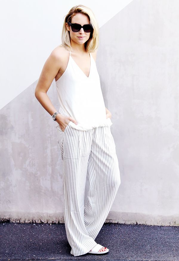 Silk Camisole + Loose Pants