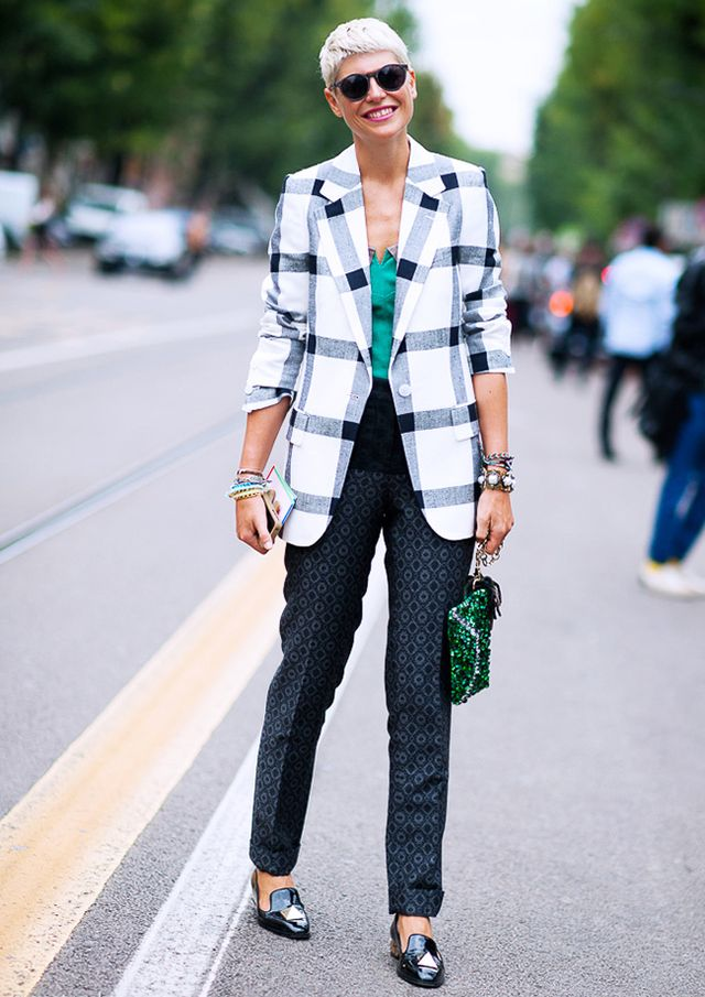 Add a bold blazer or jacket to your work wardrobe.