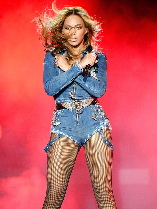 If there's one human who can pull off a custom denim onesie by Diesel, it's definitely Beyoncé.