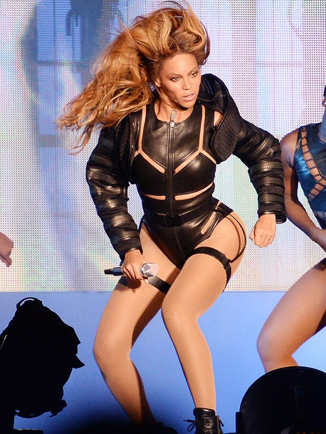 Beyoncé doing what she does best, in custom Alexander Wang.