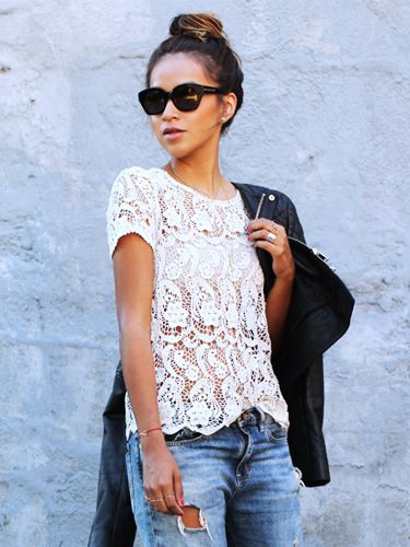 Under $35: Pretty White Tops For The Weekend