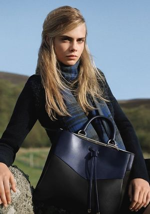 Cara Delevingne For Mulberry's F/W 2014 Campaign