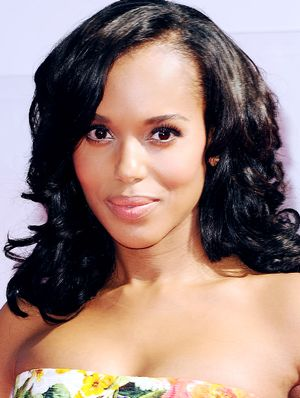 The Secret To Kerry Washington's Peachy Glow