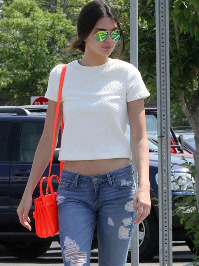Kendall Jenner S Cool Pop Of Color Whowhatwear