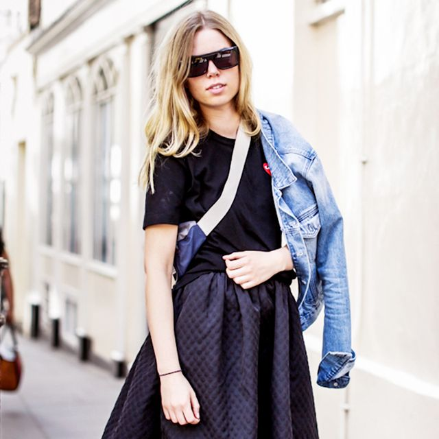 Tip Of The Day: Give Your Full Skirt A Downtown Vibe