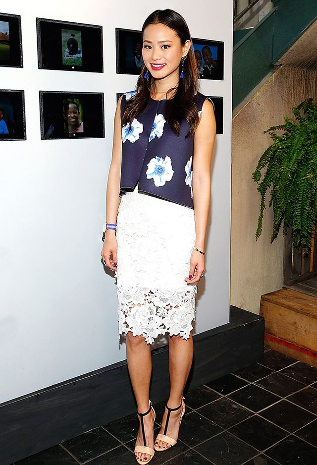 2. Pencil Skirt + Large Florals