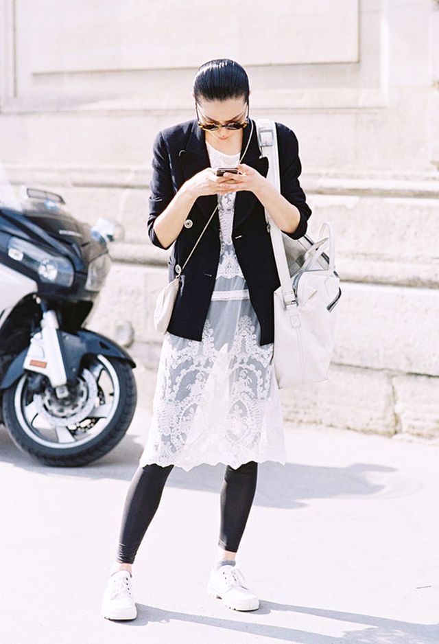 7. Slip Dress + Boyish Blazer